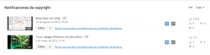 Reclamaciones YouTube copyright