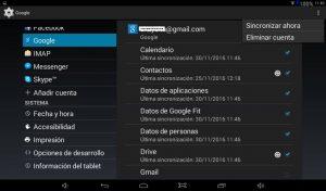 Eliminar Gmail en Android