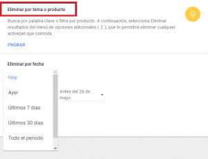 Eliminar todos los datos de navegación en google