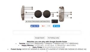 Tocar la guitarra en Google