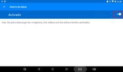 Cómo activar la descarga de imágenes del chat de Messenger
